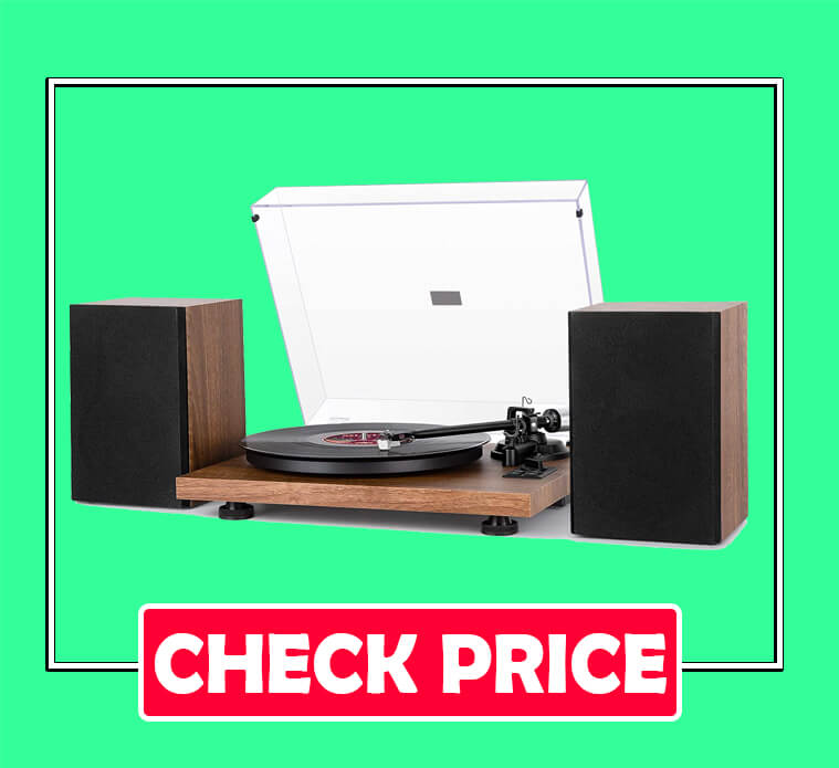 1byone Wireless Turntable HiFi System