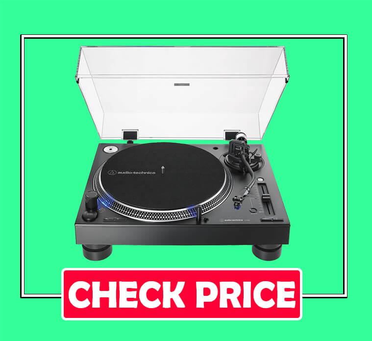Audio-Technica AT-LP140XP-BK Direct-Drive Professional DJ Turntable