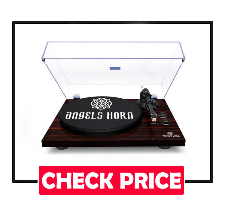 ANGELS HORN Bluetooth Stereo Vintage Phonograph Turntable