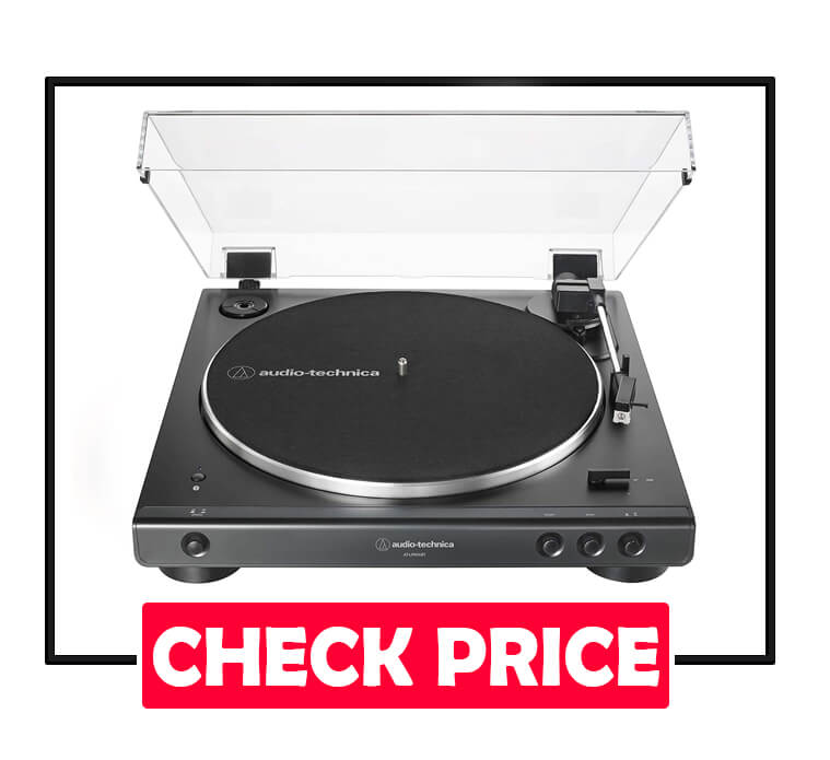 Audio-Technica AT-LP60XBT-BK Wireless Belt-Drive Turntable