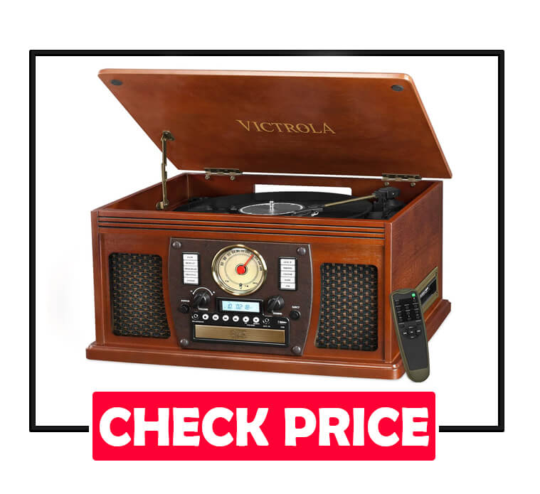 Victrola Navigator 8-in-1 Classic Bluetooth Turntable